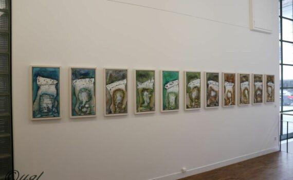 Zahn der Zeit Serie in der Ausstellung bei Galerie Sarasin Art Basel - Mischtechnik II