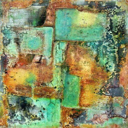 Grünspan - 2014 - 60 x 60 x 4 cm auf Leinwand - verkäuflich - Mischtechnik II