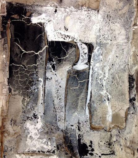 Verbrannt - 2014 - 80 x 60 x 4 cm auf Leinwand - verkäuflich – Mischtechnik II